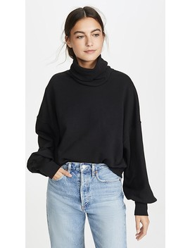 balloon-sleeve-turtleneck-sweater by agolde