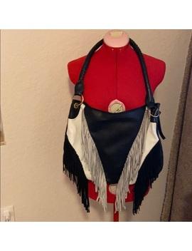 sharif-all-leather-shoulder-bag-with-fringe by sharif