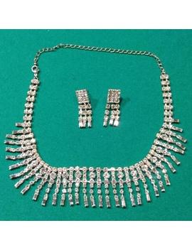 choker-bib-drop-rhinestones-necklace-&-earrings by poshmark