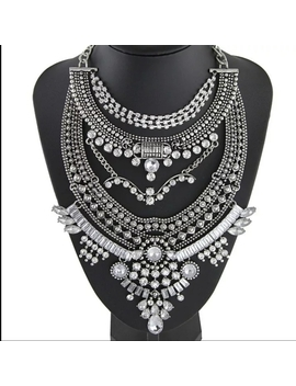 new-vintage-tribal-silver-diamond-necklacenwt by poshmark