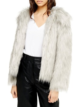 murphy-faux-fur-coat by topshop