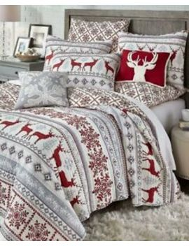 3pc-levtex-home-christmas-reindeer-quilt-set-full-queen-bedspread-last-one by levtex-home