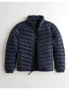 Lightweight Mockneck Puffer Jacket by Hollister
