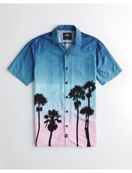 Short Sleeve Palm Tree Shirt by Hollister