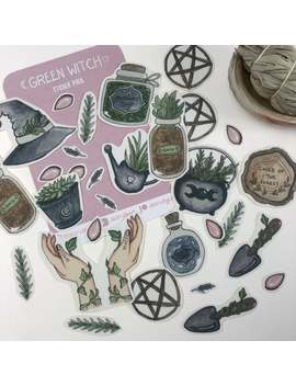 green-witch-_-sticker-pack by etsy