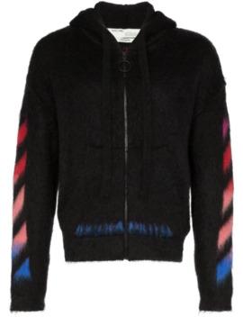 logo-print-zipped-hoodie by off-white