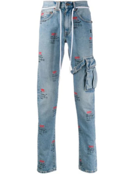 straight-leg-logo-print-jeans by off-white