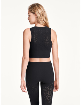 Cheetah Net Crop Top by Wolford