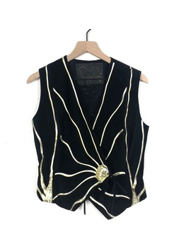 vintage-terry-+-toni-hand-painted-leather-vest by vintage