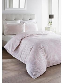 100% Cotton Digital Lace Print Duvet Set by Matalan