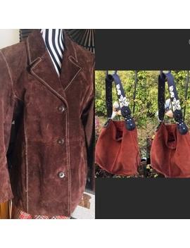 wilson's-brown-suede-vtg-coat-&-wilson's-gift-bag by wilsons-leather