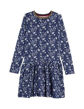 print-long-sleeve-skater-dress by mini-boden