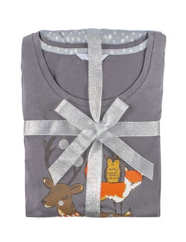 Reindeer Tee And Minky Pants by Bouxavenue