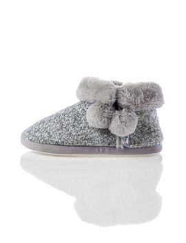 Glitter Pom Pom Booties by Bouxavenue