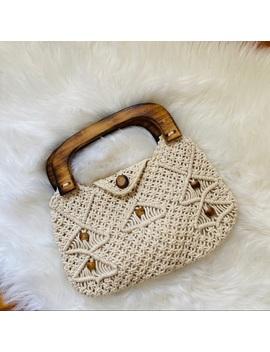 vintage-handmade-boho-rope-clutch-purse by vintage