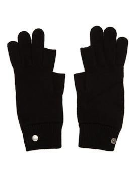 black-larry-touchscreen-gloves by rick-owens
