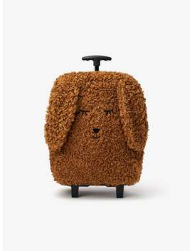 fuzzy-dog-trolley-case by zara