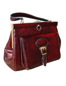 vintage-nordstrom-burgundy-top-handle-bag by vintage