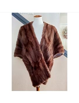 🎉vintage-mink-fur-stole-shawl-pocket-cape🎉 by vintage