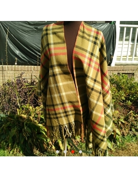 gorgeous-plaid-floral-poncho-cape-oversized-wrap by 29-psalms
