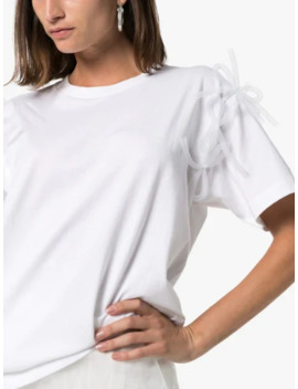 Bow Cotton T Shirt by Shushu/Tong