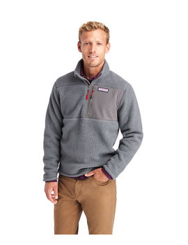 Stillwater Chest Pocket Sherpa 1/2 Zip Pullover by Vineyard Vines