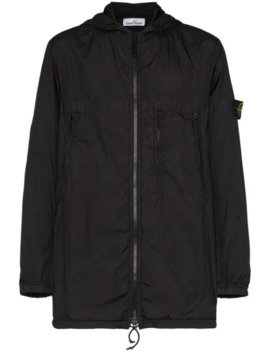 hooded-zip-front-jacket by stone-island