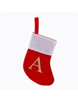 Christmas Stocking Letter A Decoration   Red by Big W