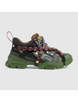 sneaker-flashtrek-uomo-con-cristalli-staccabili by gucci