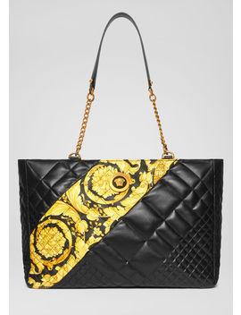 gesteppte-icon-tote-bag-im-barocco-print by versace