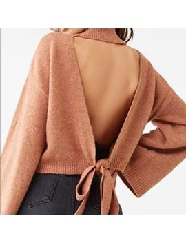 burnt-orange-open-back-sweater by free-people