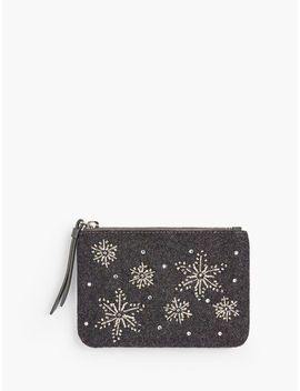 snowflakes-embellished-zip-top-pouch by talbots