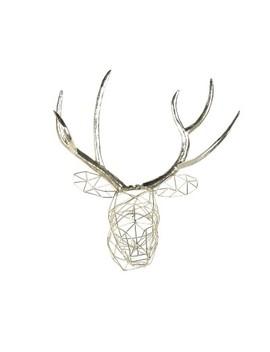 "kate-&-laurel-20""x175""-milty-geometric-hanging-deer-head-metal-decorative-wall-sculpture-silver by kate-&-laurel-all-things-decor"