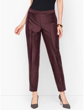 silk-gazar-tailored-ankle-pants by talbots