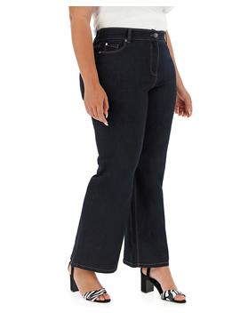 24/7 Indigo Wide Leg Jeans Petite by Simply Be