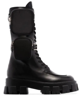 monolith-nylon-pocket-detailed-leather-combat-boots by prada