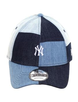 Exclusive New Era 9 Forty New York Yankees D Lab Denim Patch Hat   Navy by Hat Club