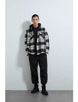 hooded-check-overshirt by zara