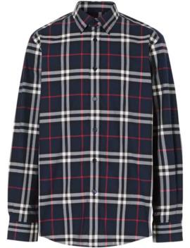 vintage-check-cotton-poplin-shirt by burberry