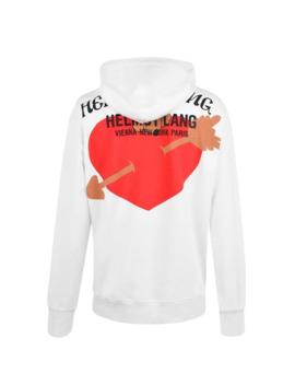 Heart Hooded Sweatshirt by Helmut Lang
