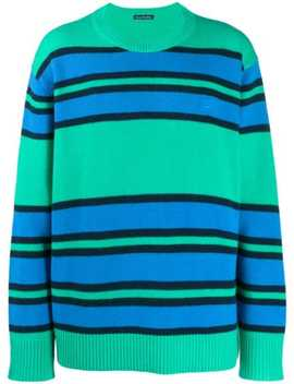 face-patch-striped-sweater by acne-studios