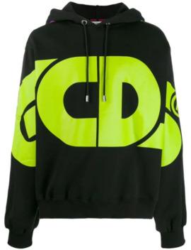 logo-print-hoodie by gcds