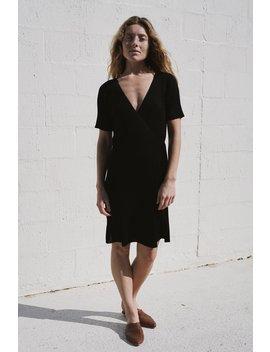 Anais Wrap Knit Dress   Black by St Agni