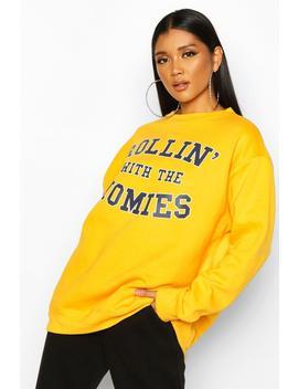 rolling-with-the-homies-slogan-oversized-sweatshirt by boohoo