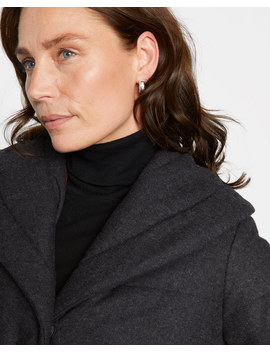 Shawl Collar Quilted Coat by Jigsaw