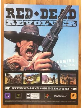 red-dead-revolver-xbox-ps2-playstation-2-vintage-poster-ad-art-ps4-one-pc-promo by ebay-seller