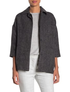 elbow-sleeve-front-button-jacket by frnch