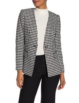one-button-houndstooth-jacket by calvin-klein