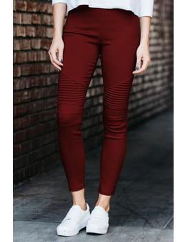 Stretch Moto Jeggings by Amaryllis Apparel