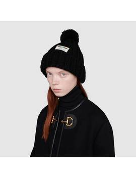 wool-hat-with-gucci-jacquard-label by gucci